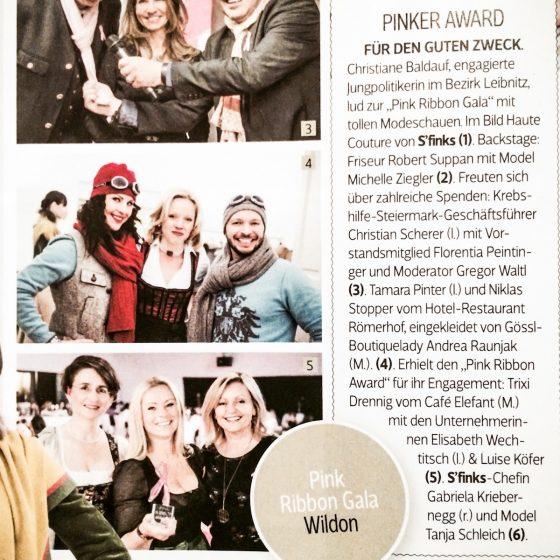 In der Zeitung – Pink Ribbon Gala
